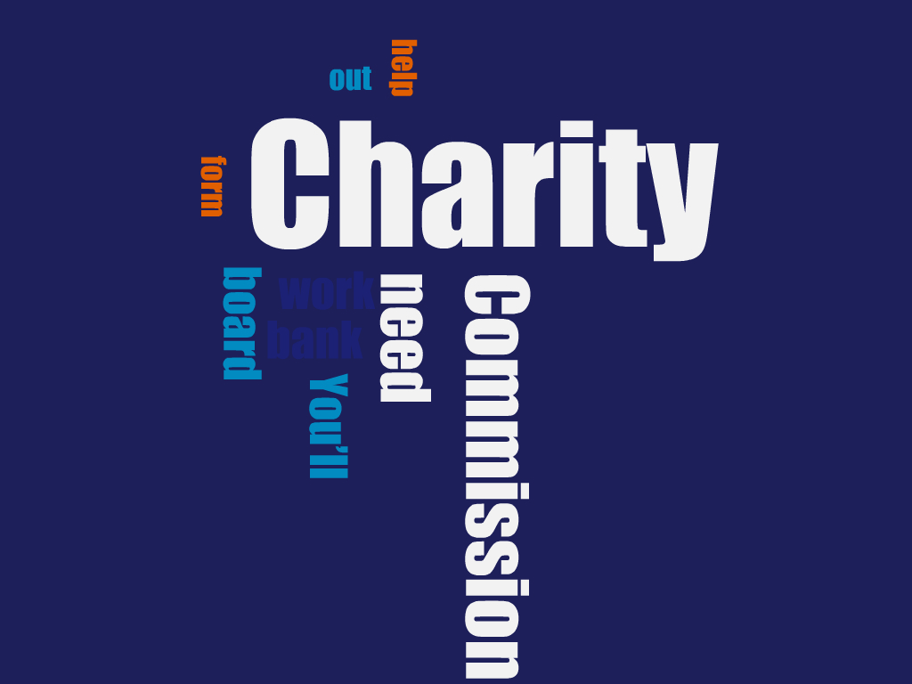 Registering a charity wordle