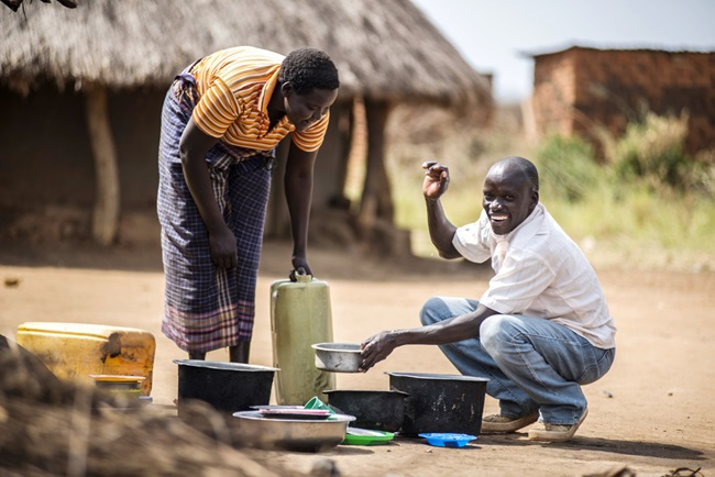Florence and Zakayo working together - WE Care - Uganda